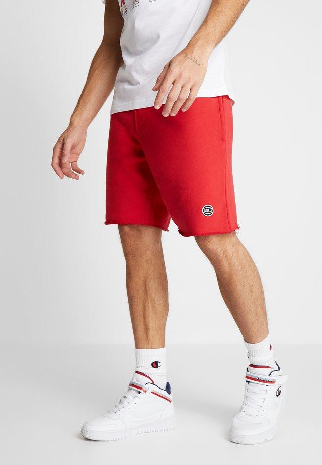 COLOR DISTRESSED  - Korte sportsbukser - red