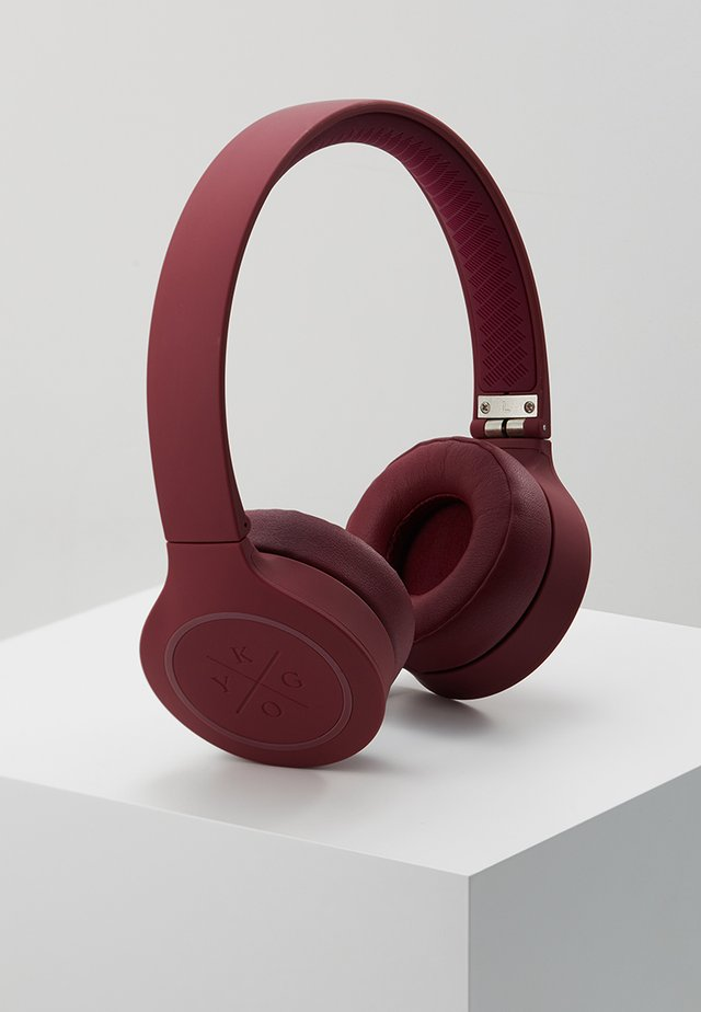 ON EAR HEADPHONES - Høretelefoner - burgundy