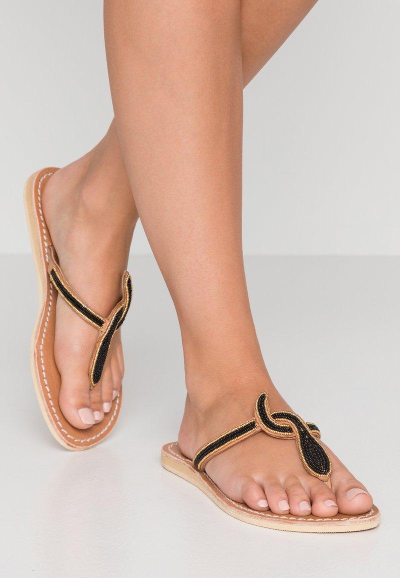 laidbacklondon - LANA FLAT - T-bar sandals - black