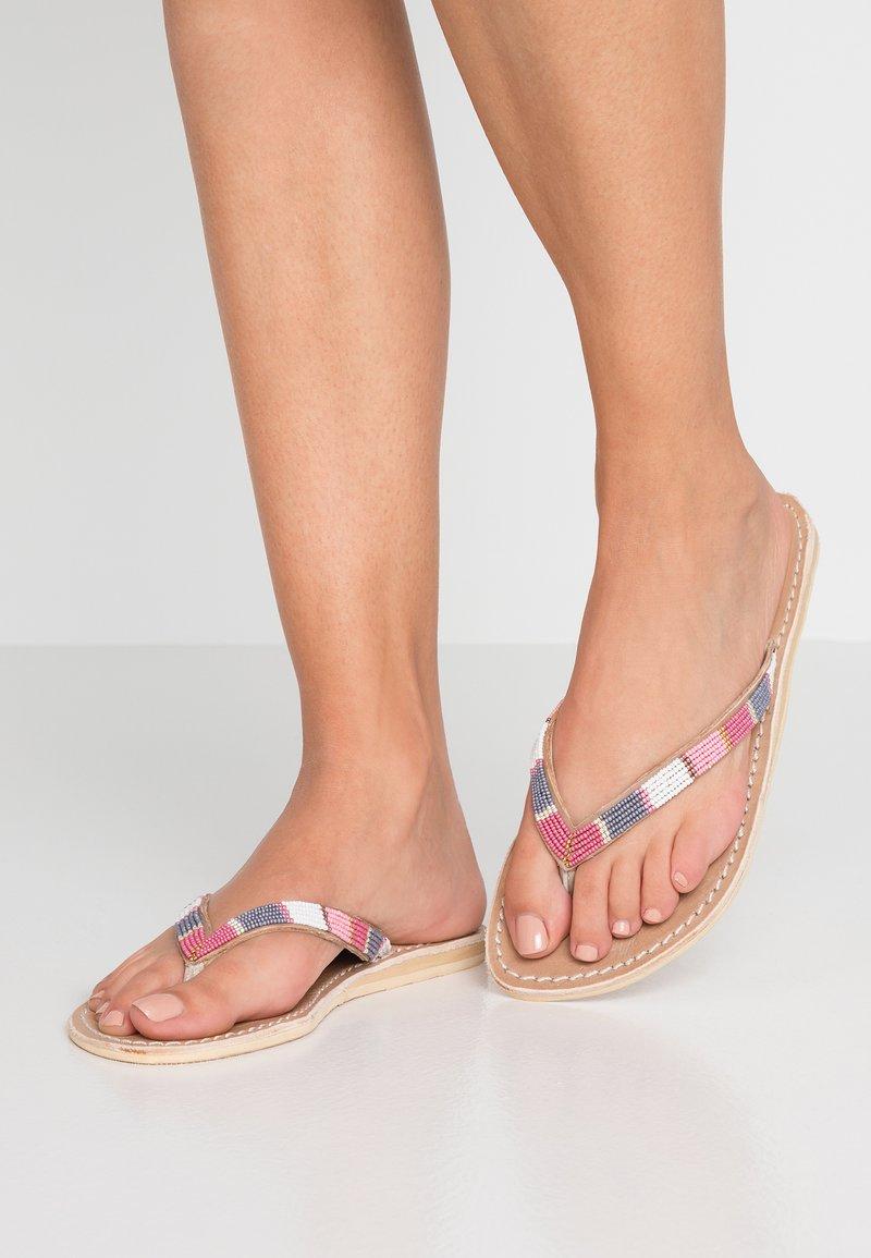 laidbacklondon - SERI FLAT - Flip Flops - rose