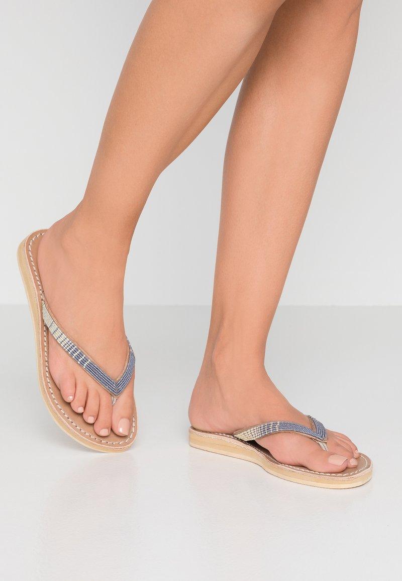 laidbacklondon - SERI  - T-bar sandals - metal silver/grey