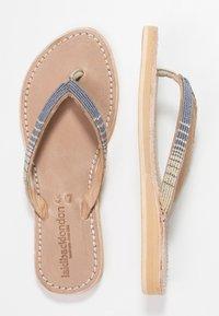 laidbacklondon - SERI  - T-bar sandals - metal silver/grey - 3
