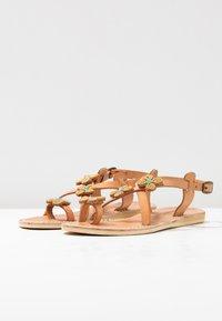 laidbacklondon - BLYTH FLAT - T-bar sandals - metal gold / turquoise - 4