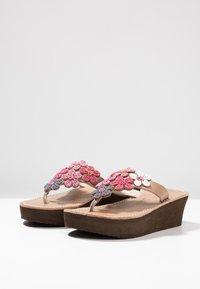 laidbacklondon - COOPER WEDGE - T-bar sandals - rose - 4