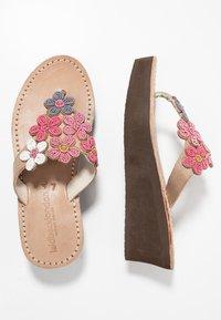 laidbacklondon - COOPER WEDGE - T-bar sandals - rose - 3