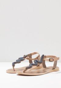 laidbacklondon - ZIGGY FLAT - T-bar sandals - tan/gun metal - 4