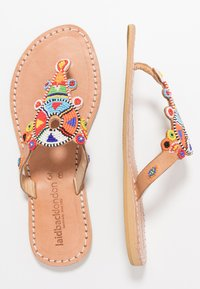laidbacklondon - SIMBA FLAT - T-bar sandals - light brown - 3