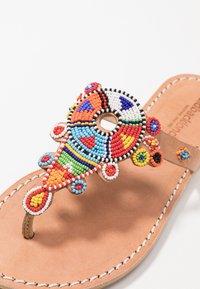 laidbacklondon - SIMBA FLAT - T-bar sandals - light brown - 2