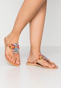 laidbacklondon - SIMBA FLAT - T-bar sandals - light brown - 0
