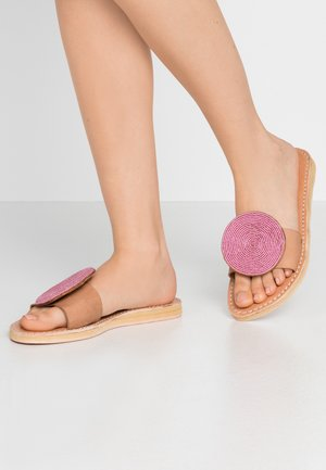 REMI - Mules - light brown/metal pink