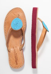 laidbacklondon - DOLI  - T-bar sandals - light brown/turquoise - 3