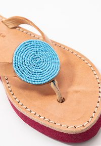 laidbacklondon - DOLI  - T-bar sandals - light brown/turquoise - 2