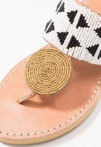laidbacklondon - HERON  - T-bar sandals - light brown/black/white - 2