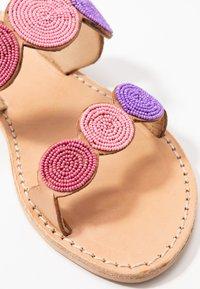 laidbacklondon - SANI FLAT - Slip-ins - light brown/rose - 2