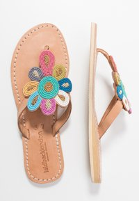 laidbacklondon - FUNZI FLAT - T-bar sandals - light brown retro - 3