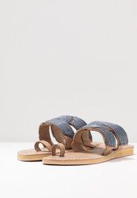 laidbacklondon - WASINI  - T-bar sandals - tan/gun metal - 4