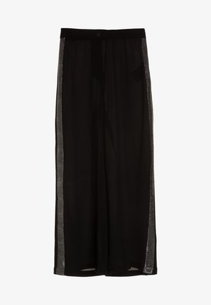 NLFSINGER BAGGY PANT GLITTER - Trousers - black