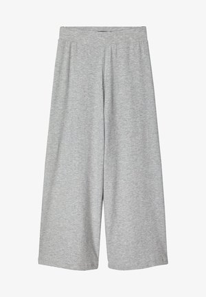 Trousers - light grey melange