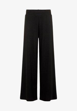 MIT WEITEM BEIN RIPPDESIGN - Spodnie materiałowe - black