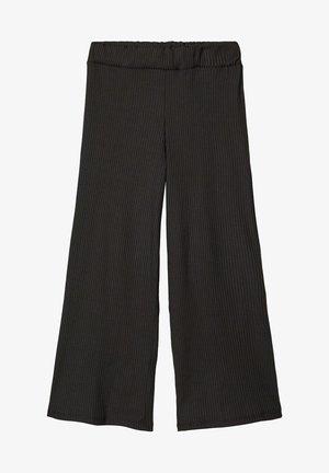 MIT WEITEM BEIN 7/8-ÄRMEL - Trousers - black
