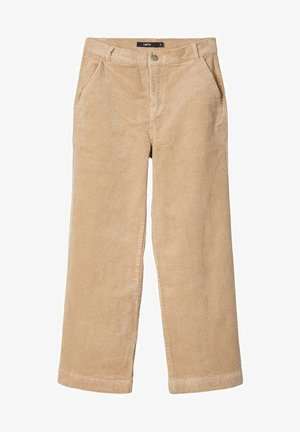 MIT WEITEM BEIN HIGH WAIST CORD - Trousers - brown
