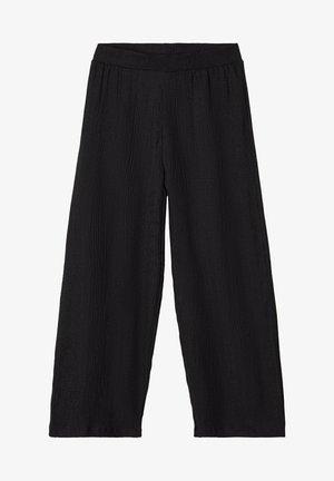 MIT WEITEM BEIN LEICHTE WEB - Pantalon classique - black