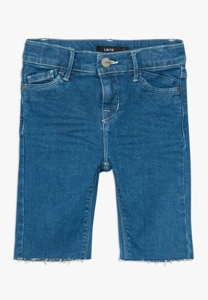 BIKER - Szorty jeansowe - medium blue denim