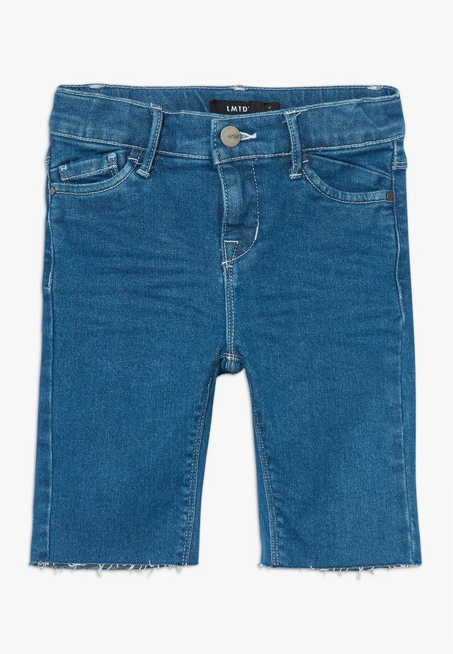 BIKER - Shorts di jeans - medium blue denim