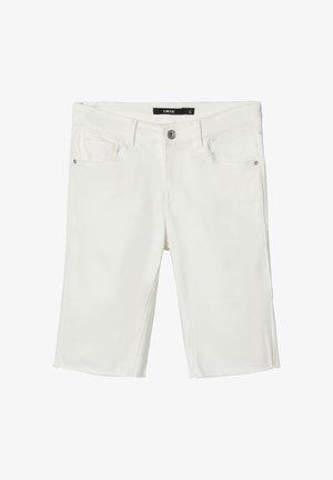 BIKER - Denim shorts - white denim