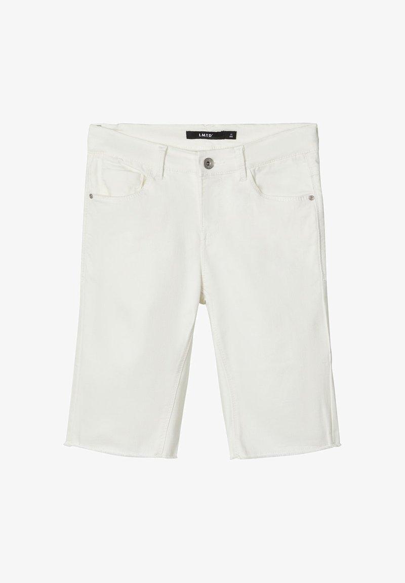 LMTD - BIKER - Shorts di jeans - white denim