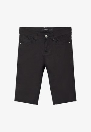 BIKER - Shorts di jeans - black denim