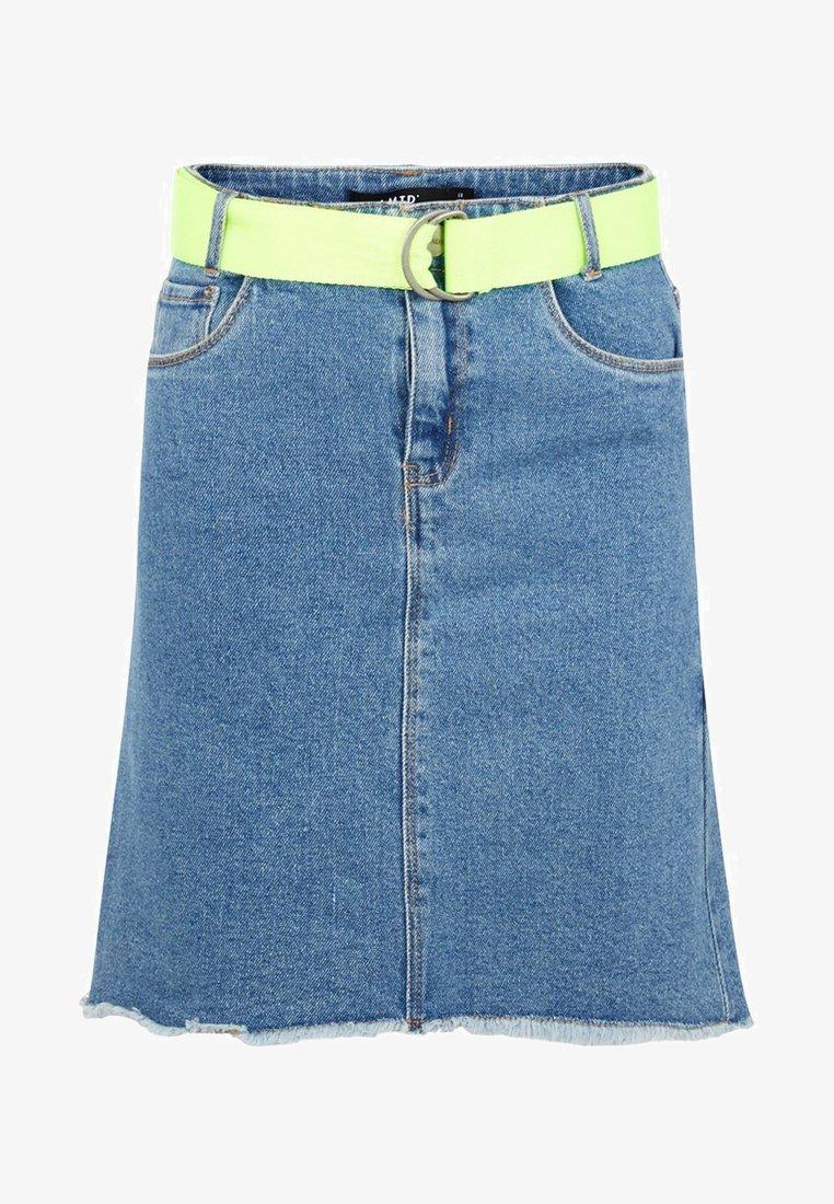 LMTD - A-line skirt - dark blue denim
