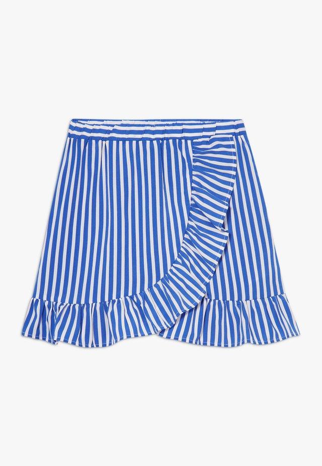 SKIRT - Spódnica trapezowa - dazzling blue/bright white