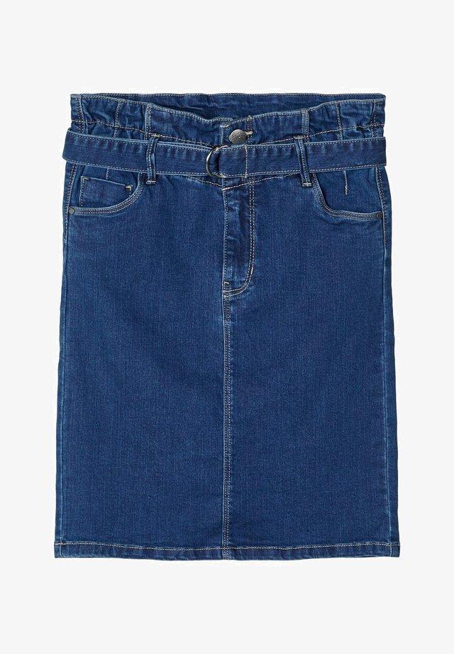 LMTD JEANSROCK HIGH WAIST SLIM FIT - Jeanskjol - medium blue denim