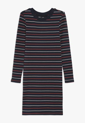 NLFLOLLY SLIM DRESS - Jersey dress - sky captain/poppy red/bright white
