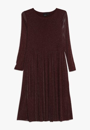 NLFSALLY DRESS - Cocktail dress / Party dress - cabernet