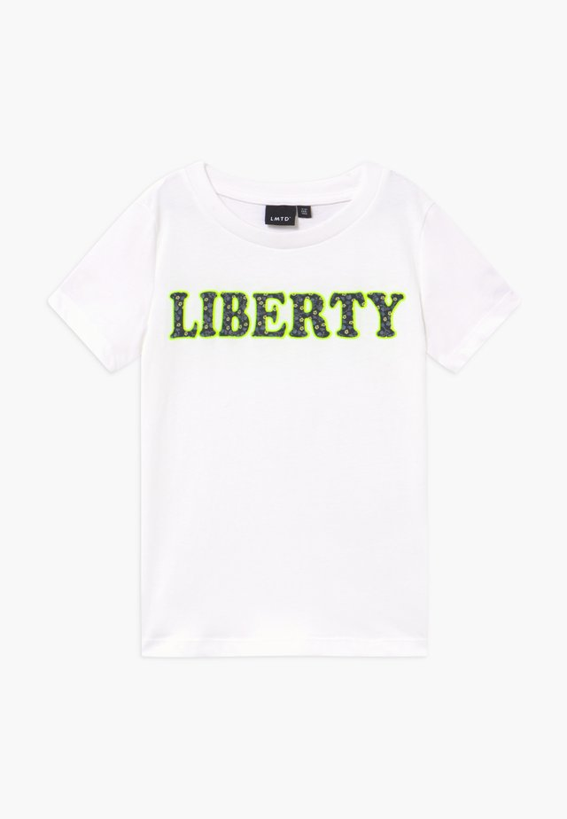 NLFBIANCA - Print T-shirt - bright white