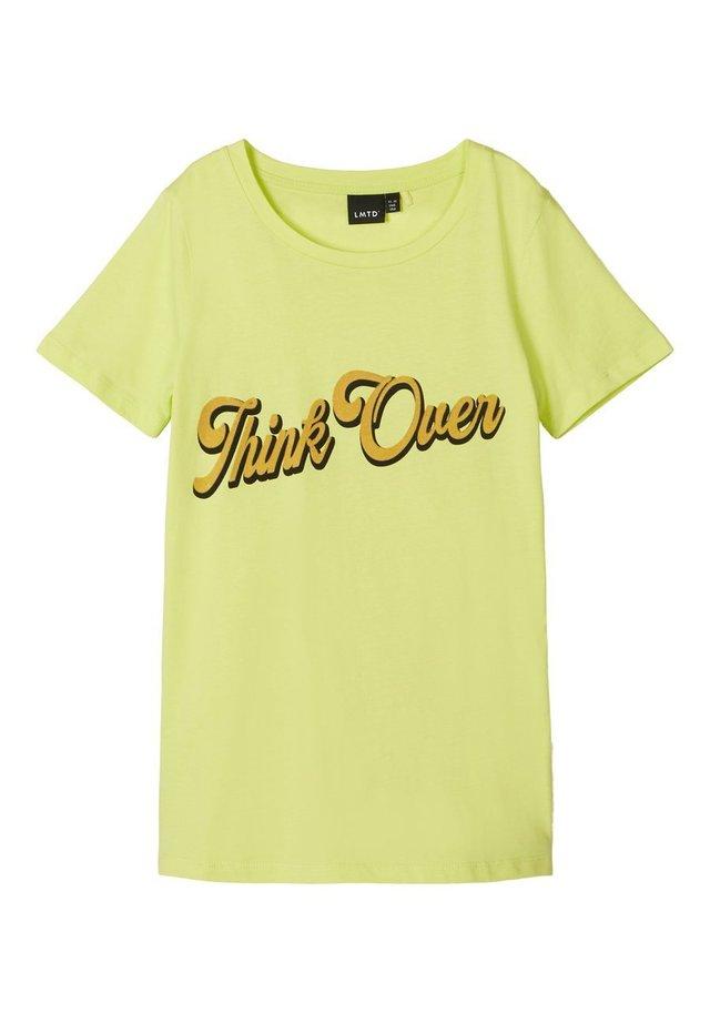 Camiseta estampada - sunny lime