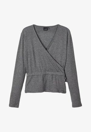OBERTEIL LANGÄRMELIGES  - Long sleeved top - dark grey melange