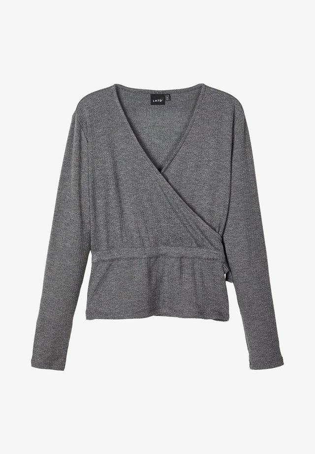 OBERTEIL LANGÄRMELIGES  - Bluzka z długim rękawem - dark grey melange