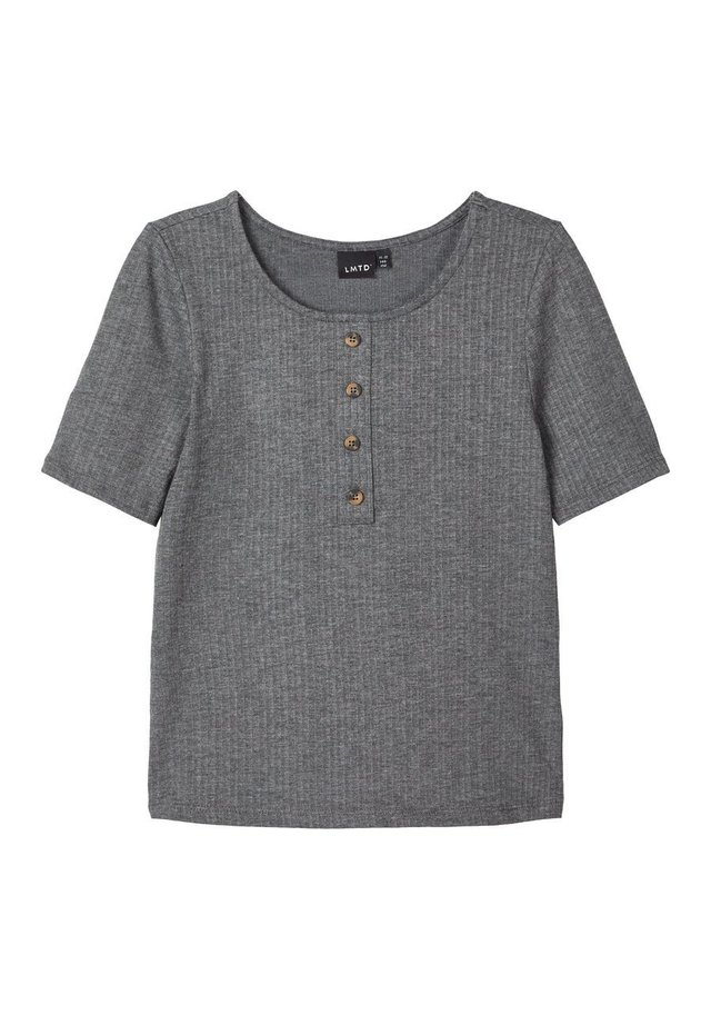 T-shirt med print - dark grey melange
