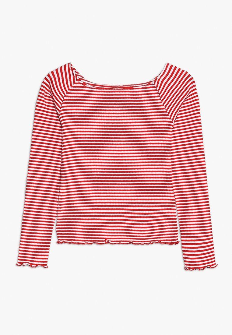 LMTD - NLFDALLASLS OFF SHOULDER - Langærmede T-shirts - flame scarlet