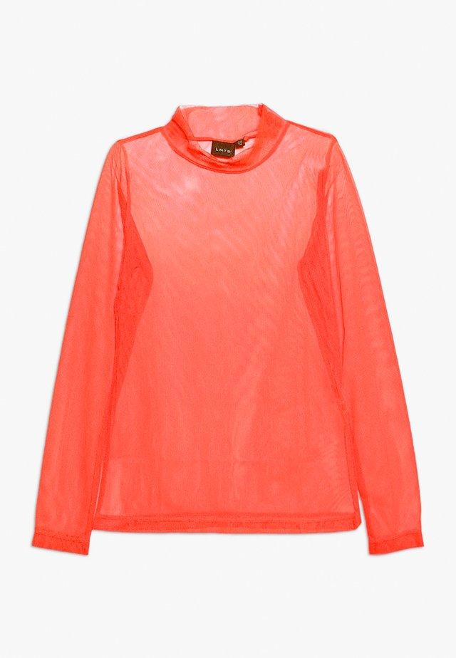 Long sleeved top - fiery coral