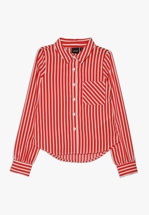 NLFKAYA - Skjortebluser - poppy red/white