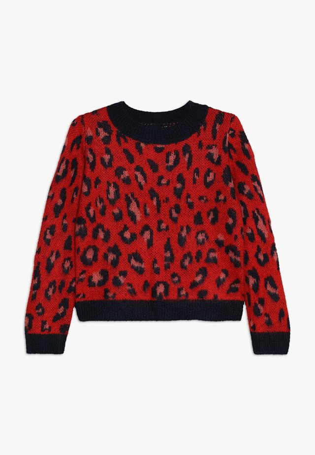 NLFLEOA - Stickad tröja - flame scarlet