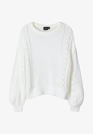 Strikpullover /Striktrøjer - bright white