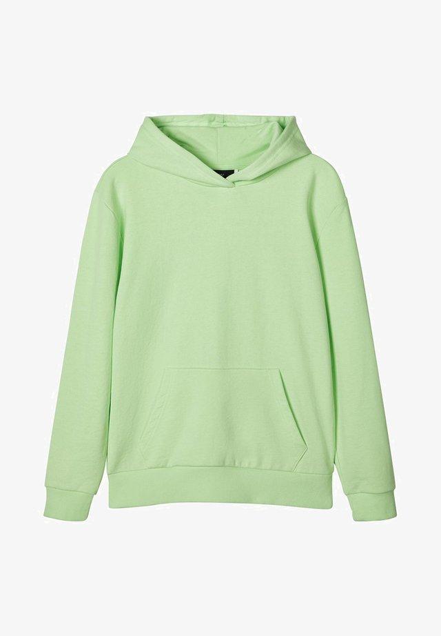 NLFTATIANA LS LOOSE SWEAT WITH HOOD - Bluza z kapturem - paradise green