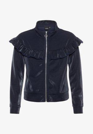 Zip-up hoodie - mottled dark blue