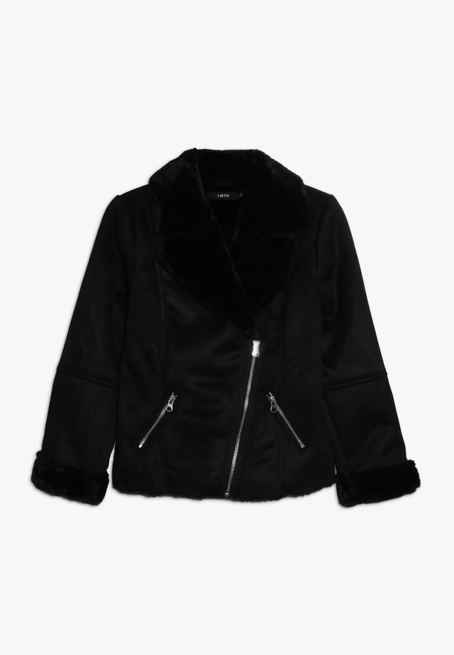 NLFMALAGA TEDDY JACKET - Winterjas - black