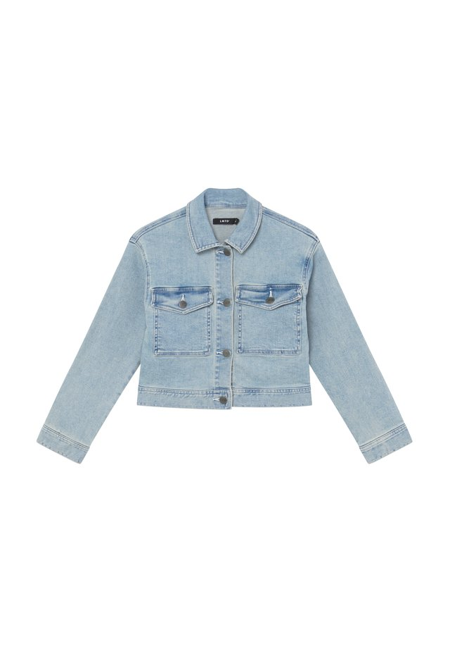 NLFTEM SHORT JACKET - Jeansjakke - light blue denim